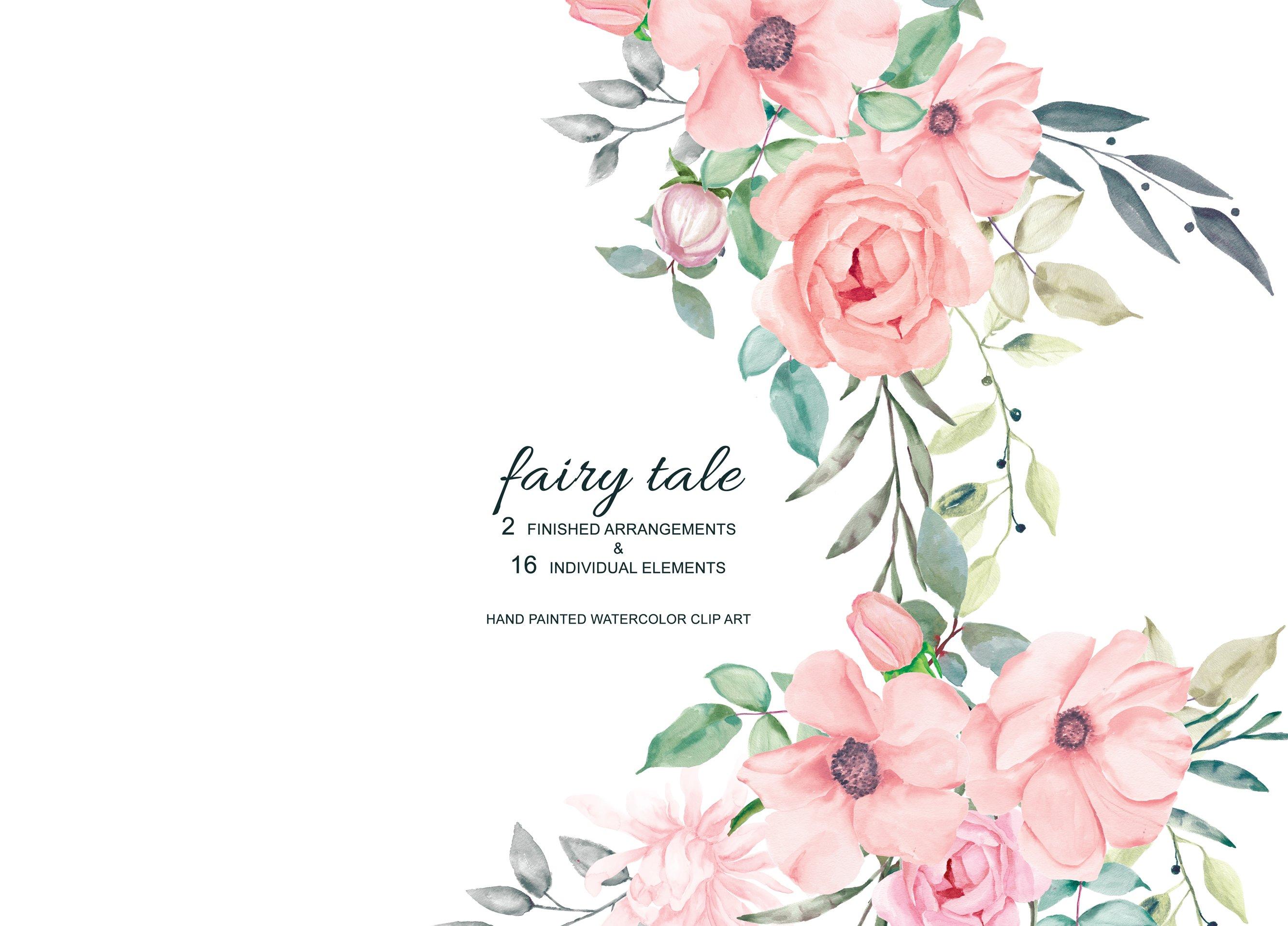 Watercolor Blush Roses Set Illustrations Creative Market