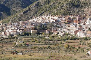 Panoramic of the town of Bogarra