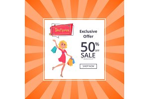 Exclusive Offer 50 Percent Sale Poster Online