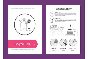 Diagram Data and Business Liability Vector Illustration