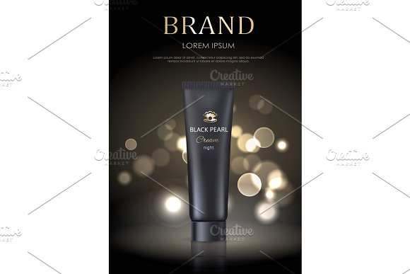 Brand Name Poster Black Pearl Night Face Cream