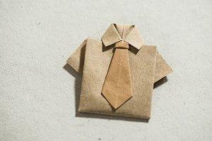 Shirt origami