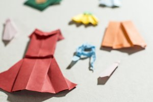 Many clothes origami