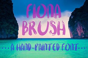 Fiona Brush, A Hand-Painted Font