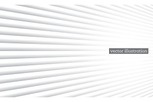 White Geometric Background with Line