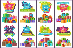 Best Sale Exclusive Products Vector Illustration