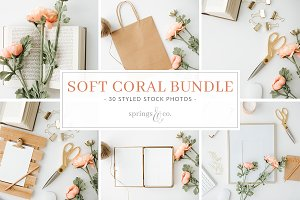 Soft Coral Styled Stock Photo Bundle