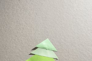 Christmas pine tree made of paper