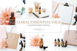 Coral Essential Oils Stock Photos