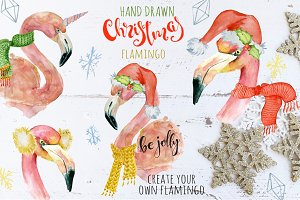 Christmas pink flamingo creator
