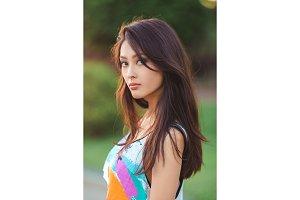 Asian woman summer portrait