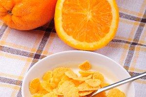 Cornflakes and oranges