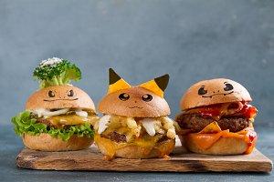 Tasty pokemon burgers