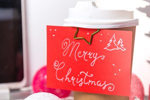 Merry Christmas coffee cup