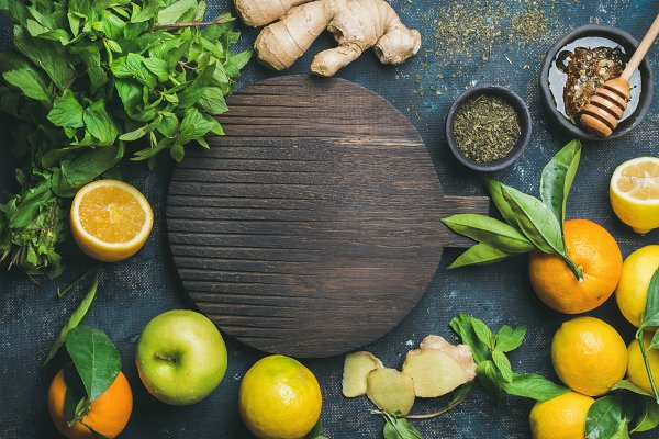 Ingredients for making natural drin…