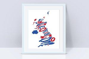 United Kingdom UK vector design