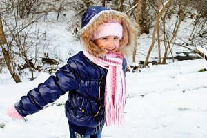 Girl outdoor in winter