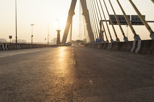 Road on the Rama VIII Bridge