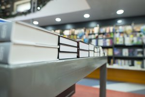 Books on shelfs