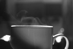 Hot morning coffee