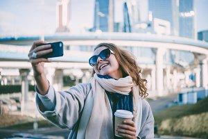 Selfie in the city