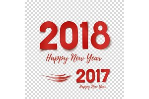 Happy New Year 2017- 2018 template for poster.