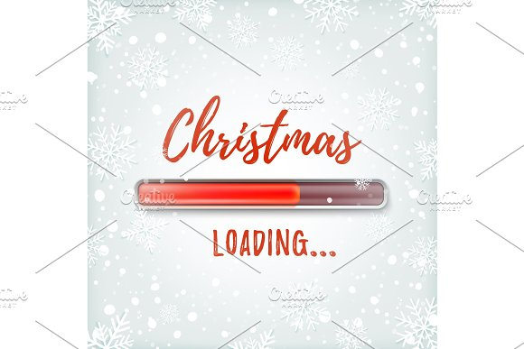 Christmas loading. Greeting card design template. in Objects