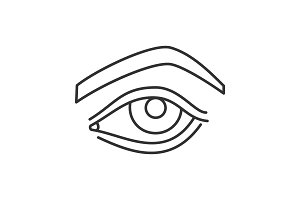 Woman's eye linear icon