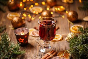 Christmas hot wine
