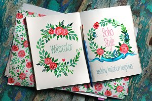 Boho Wedding Invitations: ROSES