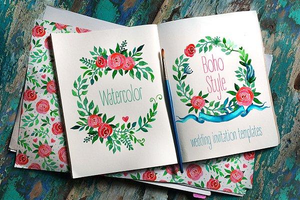 Boho Wedding Invitations: ROSES