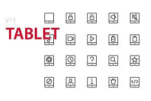 60 Tablet UI icons