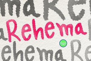 Rehema Handwritten typeface