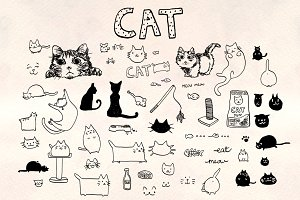 60+ Cat Vector Graphics Bundle