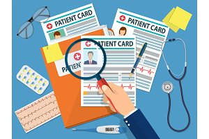 Folder with patient card