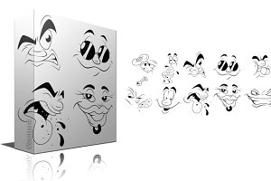 Cartoon Faces Impressions