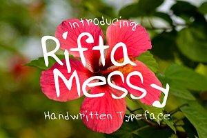 RiftaMessy Handwritten Font Set