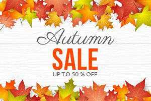 Autumn Sale Background.