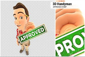 3D Handyman Approved Stamp