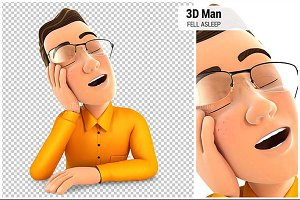 3D Man Fell Asleep