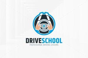 Drive School Logo Template