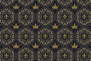 Royal dark background vector