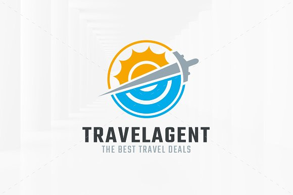 Travel Agent Logo Template Templates Creative Market