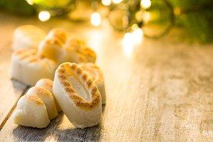 Christmas marzipan sweets