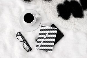Black and white lifestyle image