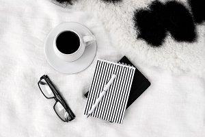 Black and white lifestyle image