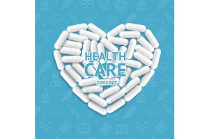 Health Care Concept Medical Pills