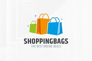Shopping Bags Logo Template