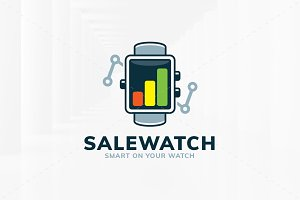 Sale Watch Logo Template