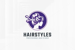 Hairstyles Logo Template